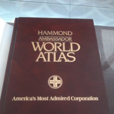 Libros: AMBASSADOR WORLD ATLAS. Lote 267753479