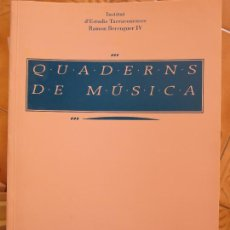 Libros: LIBRITO CUADERNS DE MUSICA.- INSTITUT D´ESTUDIS R.BERENGUER IV -CATALAN CM. Lote 269758998