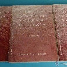 Libri: TIERRA DE LA PROVINCIA Y OBISPADO DE CUENCA. Lote 280312308