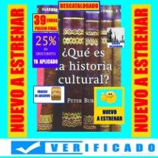 Libros: ¿QUÉ ES LA HISTORIA CULTURAL? - PETER BURKE - PAIDÓS - RARO - DESCATALOGADO - NUEVO - 39€. Lote 293697178