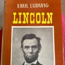 Libros: LINCOLN DE EMIL LUDWIG. Lote 295841488