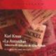 Libros: LA ANTORCHA KRAUS KARL GASTOS DE ENVIO GRATIS. Lote 211408586
