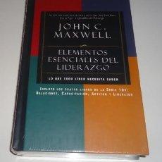 Libros: ELEMENTOS ESENCIALES DEL LIDERAZGO POR JOHN C. MAXWELL TAPA DURA. Lote 96998719