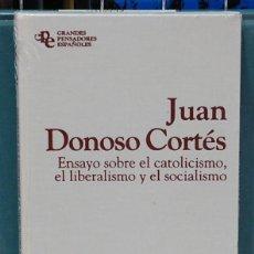 Libros: ENSAYO SOBRE EL CATOLICISMO, EL LIBERALISMO Y EL SOCIALISMO. JUAN DONOSO CORTES. LIBRO PRECINTADO. Lote 103698627