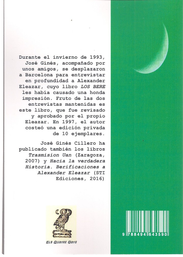 Bücher: José GINÉS CILLERO: Así habló Eleazar (Conversaciones con el autor de los Bere). STI, Zaragoza, 2018 - Foto 2 - 147631816