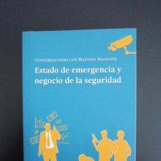 Libros: LIBRO - ESTADO DE EMERGENCIA Y NEGOCIO DE LA SEGURIDAD - 2017 - CANTABRIA. Lote 125921955