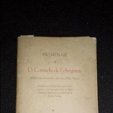 Libros: HOMENAJE A ECHEGARAY. TELESFORO DE ARANZADI. DUBARAT, DARANATZ,. Lote 130955924