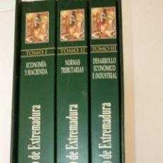 Libros: CÓDIGO ECONÓMICO DE EXTREMADURA, 3 TOMOS.. Lote 131559279