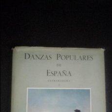 Libros: DANZAS POPULARES EXPLICADAS PASO A PASO. EXTREMADURA. FOLKLORE DE ESPAÑA.. Lote 132542382