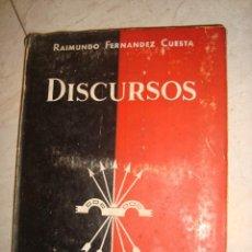 Libros: DISCURSOS POR RAIMUNDO FERMANDEZ CUESTA1934. Lote 134093690