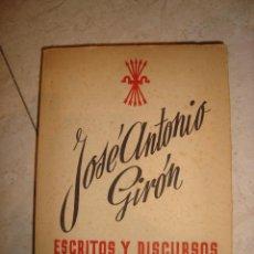 Libros: JOSE ANTONIO GIJÓN , ESCRITOS Y DISCURSOS , MADRID 1943. Lote 134093798