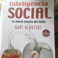 Libros: INTELIGENCIA SOCIAL KARL ALBRECHT. Lote 135417562