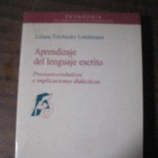 Libros: LILIANA TOLCHINSKY LANDSMANN - APRENDIZAJE DEL LENGUAJE ESCRITO. Lote 140653806