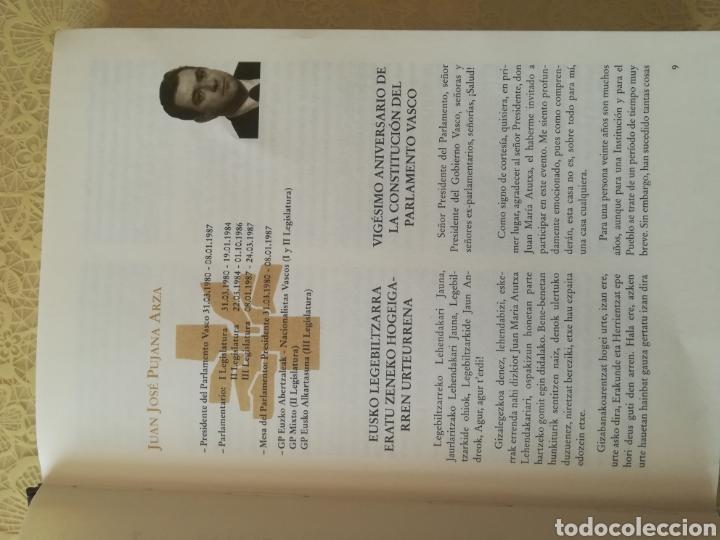 Libros: TESTIGOS DEL TIEMPO .. DENBORAREN LEKUKOAK .. 20 aniversario del Parlamento Vasco I - Foto 5 - 162370646