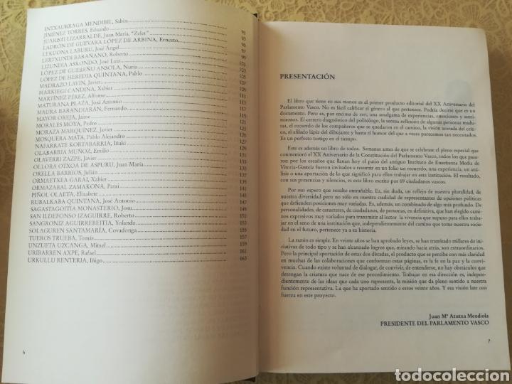 Libros: TESTIGOS DEL TIEMPO .. DENBORAREN LEKUKOAK .. 20 aniversario del Parlamento Vasco I - Foto 6 - 162370646