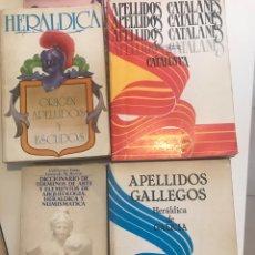 Libros: SEIS LIBROS SOBRE HERÁLDICA Y GENEALOGÍA. Lote 163351484