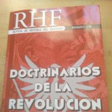 Libros: REVISTA DE HISTORIA DEL FASCISMO RHF NUM 61 LXI DOCTRINARIOS DE LA REVOLUCION ALEMANA EDMOND VERMEIL. Lote 170214268