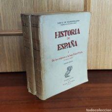 Libros: LUIS G. DE VALDEAVELLANO - HISTORIA DE ESPAÑA. DE LOS ORÍGENES A LA BAJA EDAD MEDIA. 1955 [2 TOMOS]. Lote 179960643