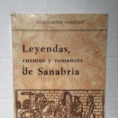 Libros: LIBRO LEYENDAS DE SANABRIA CUENTOS Y ROMANCES. Lote 183930260