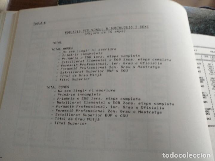 Libros: DADES ESTADISTIQUES - PADRÓ MUNICIPAL DHABITANTS - TARRAGONA - 1986 - Foto 5 - 185718397