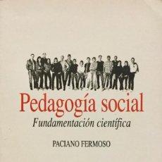 Libros: PEDAGOGÍA SOCIAL. REF: AX 481. Lote 194721888