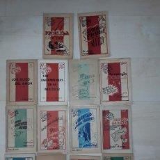 Libros: TRECE TÍTULOS DE LA COLECCIÓN EL MUNDO AL DÍA PUBLICADOS EN TOULOUSE POR LA RESISTENCIA EN EXILIO.. Lote 197711653