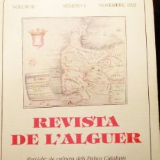 Libros: L ALGUER MONOGRÁFICO DE CULTURA DELS PAÍSÖS CATALANS. 1992. Lote 199717861