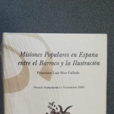 Libros: MISIONES POPULARES EN ESPAÑA ENTRE EL BARROCO Y LA ILUSTRACIÓN. Lote 210477006