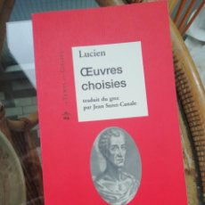 Libros: LUCIEN OEUVRES CHOISIES EN FRANCÉS. Lote 223353411