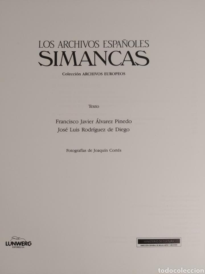 Libros: LOS ARCHIVOS ESPAÑOLES SIMANCAS - Foto 2 - 224995691