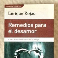 """Libros: """"REMEDIOS PARA EL DESAMOR"""" DE ENRIQUE ROJAS MARCOS.. Lote 243400665"""