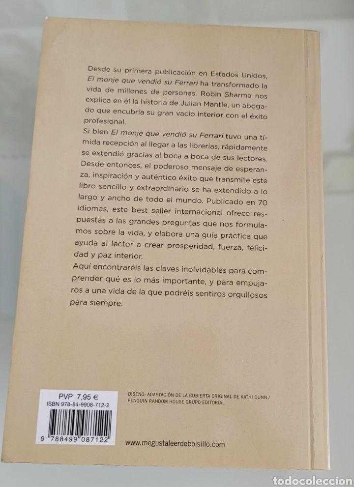 Libros: El monje que vendió su Ferrari. Robin Sharma. - Foto 2 - 257385385