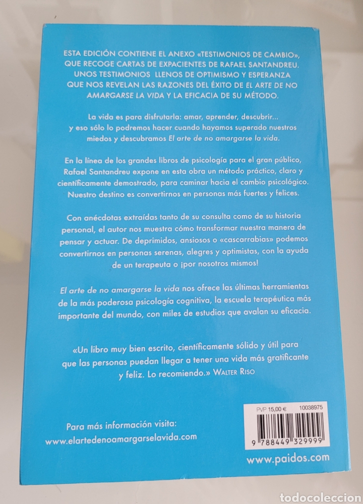 Libros: El arte de no amargarse la vida. Rafael Santandreu. - Foto 2 - 257385540