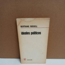 Libros: BERTRAND RUSSELL - IDEALES POLITICOS - AGUILAR. Lote 263429480