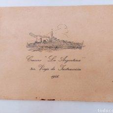 """Libros: CRUCERO """"LA ARGENTINA"""" TERCER VIAJE DE INSTRUCCIÓN 1946.. Lote 285810223"""