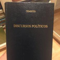 Libros: DISCURSOS POLÍTICOS, DE TEMISTIO. ED. GREDOS. Lote 294053808