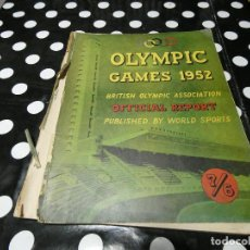 Libros: OLYMPIC GAMES 1952 BRITISH OLYMPIC ASSOCIATION PUBLISEHD BY WORLD SPORTS- EN INGLES TAPAS SUELTAS. Lote 117647271
