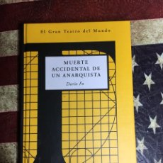 Libros: MUERTE ACCIDENTAL DE UN ANARQUISTA. Lote 141190262