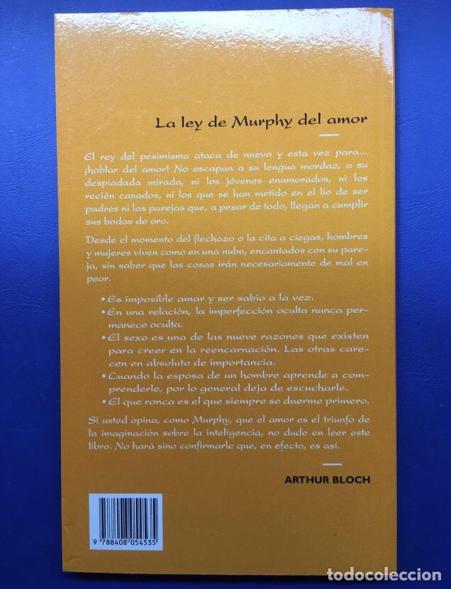 Libros: Libro La Ley de Murphy del amor (nuevo ideal para regalar) sucesos comico enamorados san valentin - Foto 2 - 144224002