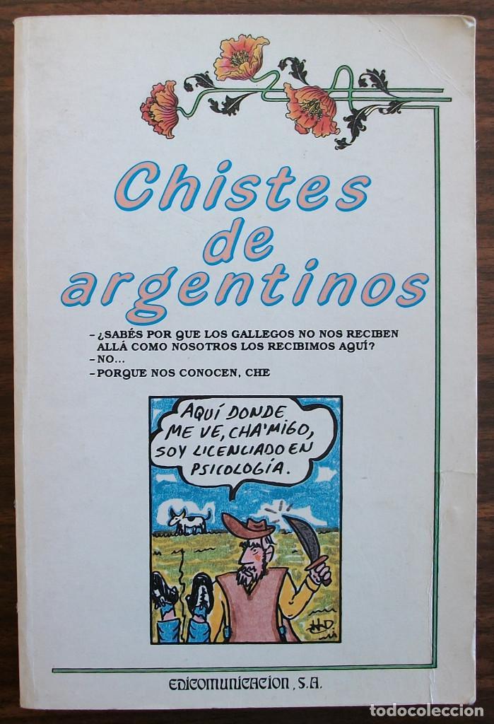 CHISTES DE ARGENTINOS. JAVIER TAPIA RODRIGUEZ (Libros Nuevos - Literatura - Narrativa - Humor)