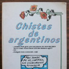 Libros: CHISTES DE ARGENTINOS. JAVIER TAPIA RODRIGUEZ. Lote 150572194