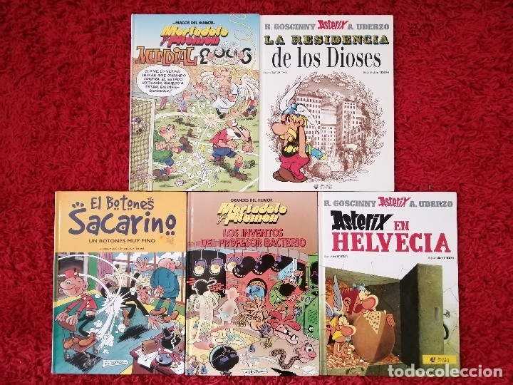 CINCO CÓMICS CON ASTÉRIX Y MORTADELO Y FILEMON (Libros Nuevos - Literatura - Narrativa - Humor)