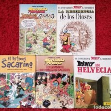 Libros: CINCO CÓMICS CON ASTÉRIX Y MORTADELO Y FILEMON. Lote 176977179