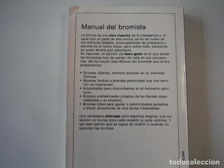 Libros: EL MANUAL DEL BROMISTA EDITORIAL DE VECCHI - Foto 2 - 190900763