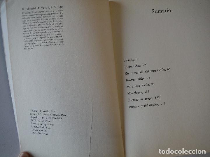Libros: EL MANUAL DEL BROMISTA EDITORIAL DE VECCHI - Foto 3 - 190900763