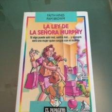 Libros: LIBRO LA LEY DE LA SEÑORA MURPHY. Lote 198569982