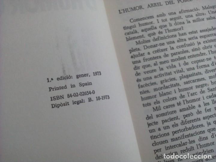 Libros: 1ª edición - UN SEGLE DHUMOR CATALÀ (con ilustraciones) - Lluís Solà - Editorial Bruguera - 1973 - Foto 4 - 237338075
