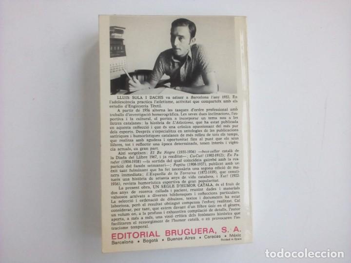 Libros: 1ª edición - UN SEGLE DHUMOR CATALÀ (con ilustraciones) - Lluís Solà - Editorial Bruguera - 1973 - Foto 8 - 237338075