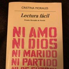 Libros: CRISTINA MORALES. LECTURA FÁCIL. Lote 244782470