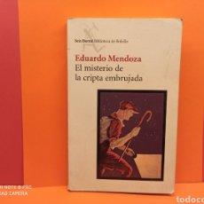 Libros: EL MISTERIO DE LA CRIPTA EMBRUJADA. EDUARDO MENDOZA.. Lote 253576005